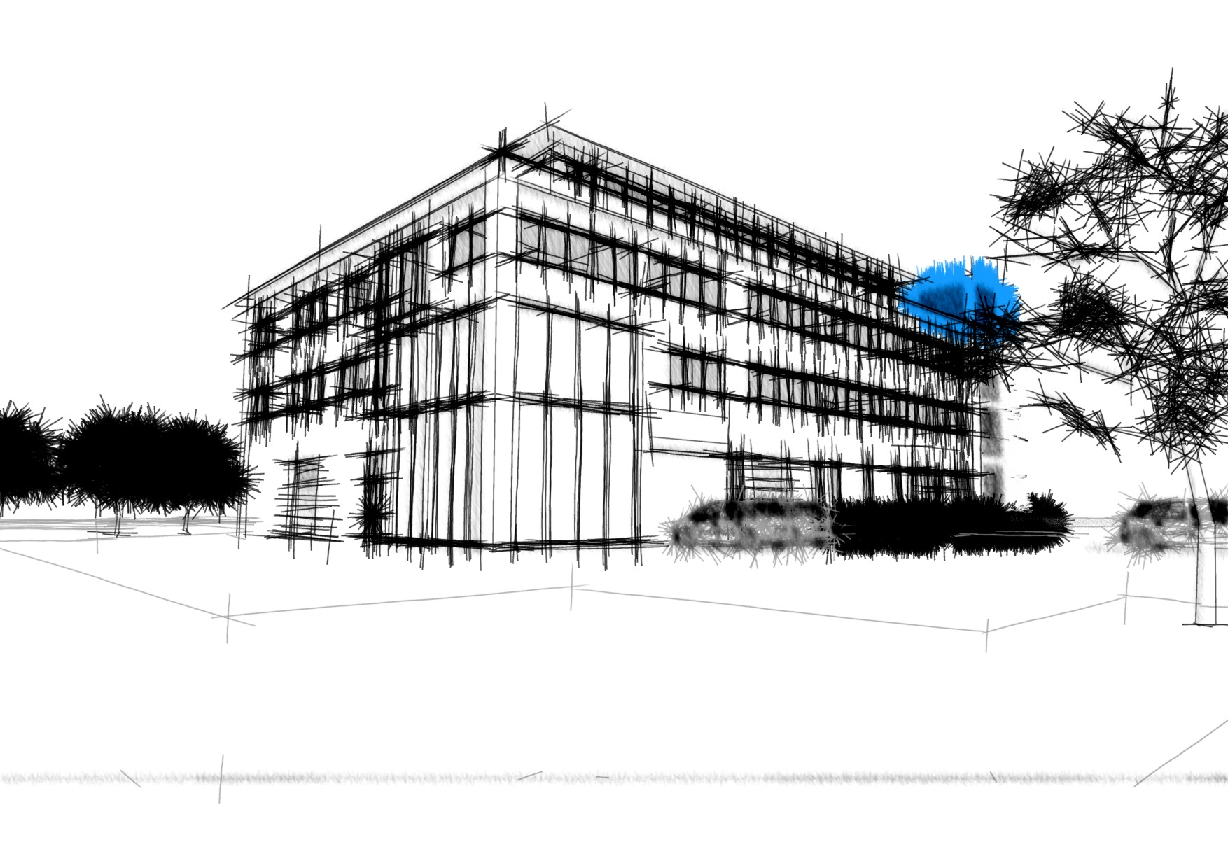 Skizze pro-mciron Firmengebäude