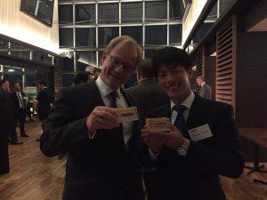 CEO von pro-micron - Hubertus von Zastrow - mit unserem japanischen Sales Partner FUKUDA
